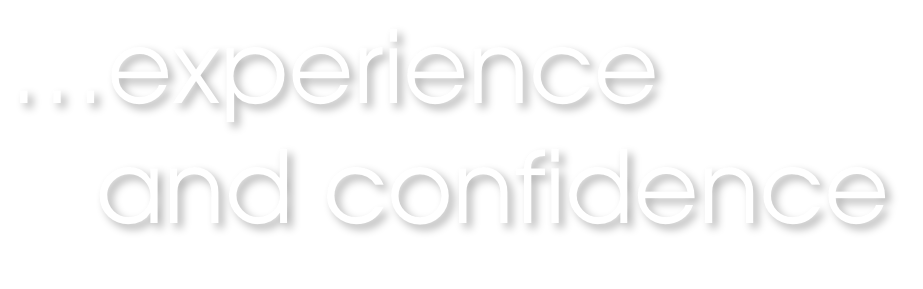 experience and confidence